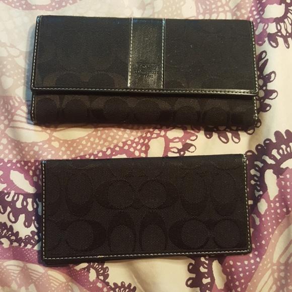 a0a939c6 Coach C Logo Black Fabric & Leather Wallet